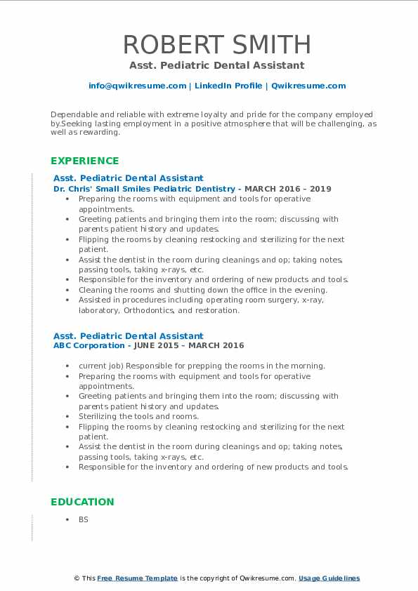 pediatric dental assistant resume samples qwikresume pdf professional objective statement Resume Pediatric Dental Assistant Resume