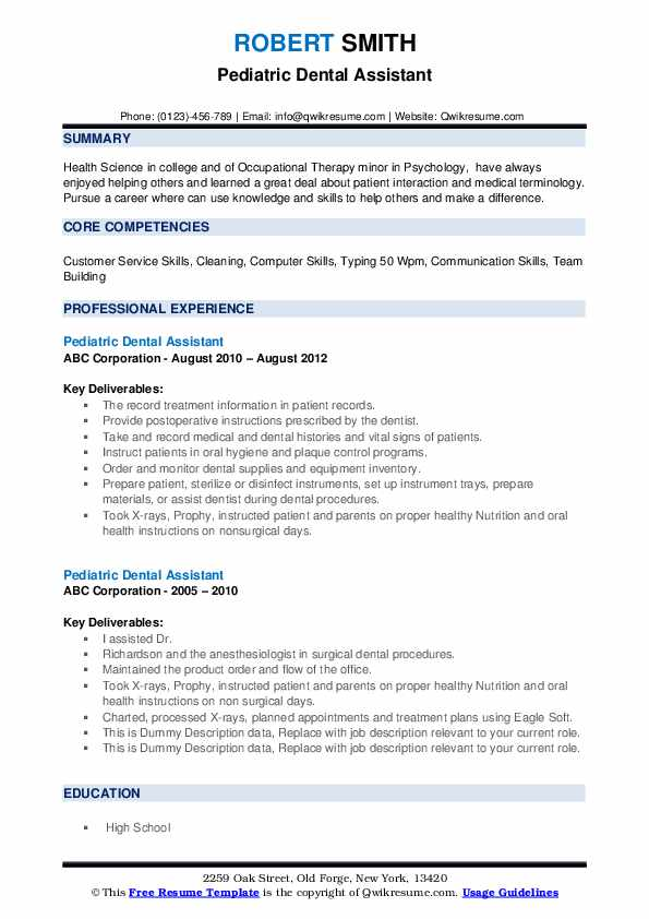 pediatric dental assistant resume samples qwikresume pdf sample with little work Resume Pediatric Dental Assistant Resume