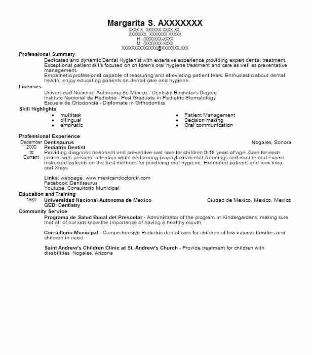 pediatric dentist resume example dentistry resumes dental assistant with promotion sample Resume Pediatric Dental Assistant Resume