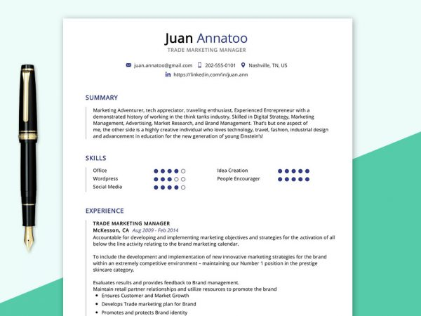 perfect free resume cv templates word format maxresumes marketing trade manager sample Resume Marketing Resume Templates Free