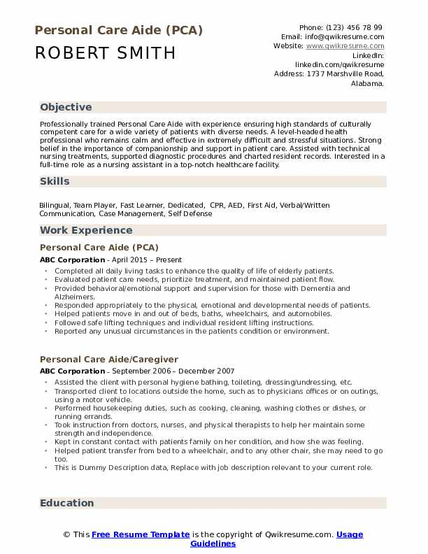 personal care aide resume samples qwikresume assistant pdf should pay for professional Resume Talent Inc Resume Writer Salary