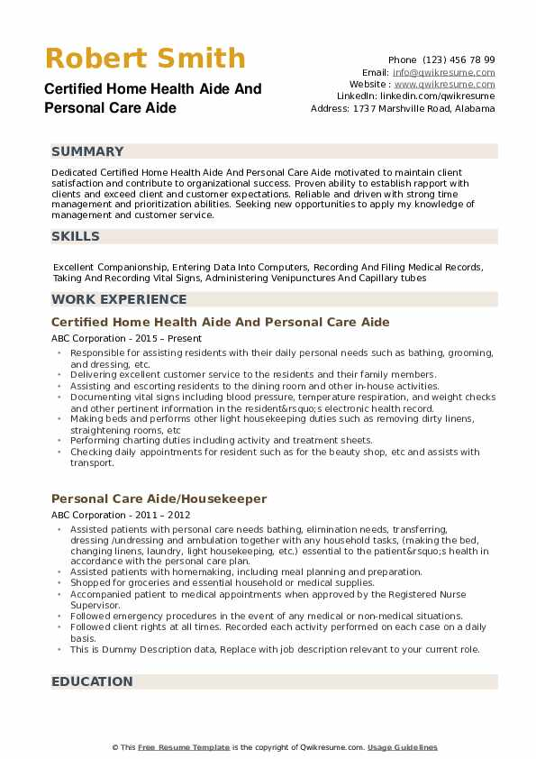 personal care aide resume samples qwikresume home health pdf academic librarian sample Resume Home Health Aide Resume