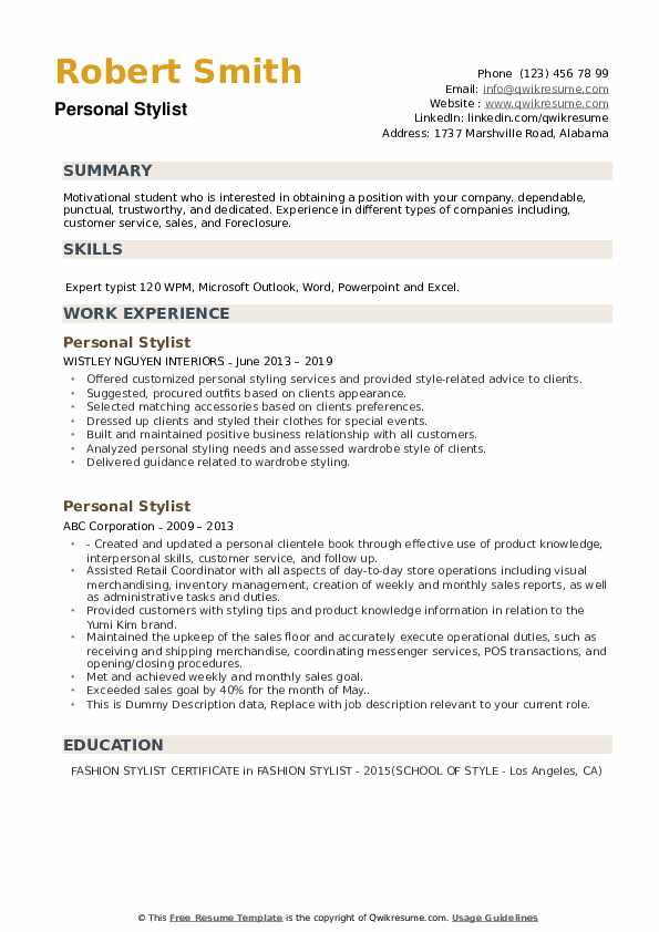 personal stylist resume samples qwikresume fashion assistant pdf social media specialist Resume Fashion Stylist Assistant Resume