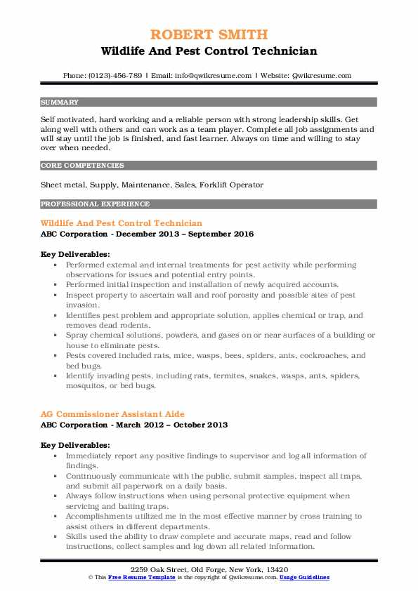 pest control technician resume samples qwikresume objective pdf medical assistant summary Resume Pest Control Resume Objective