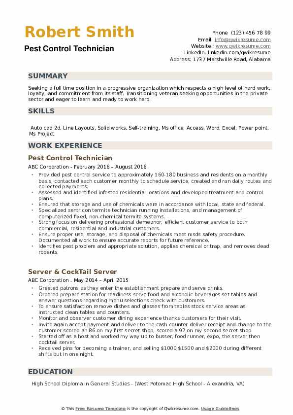 pest control technician resume samples qwikresume objective pdf pointers solidworks Resume Pest Control Resume Objective