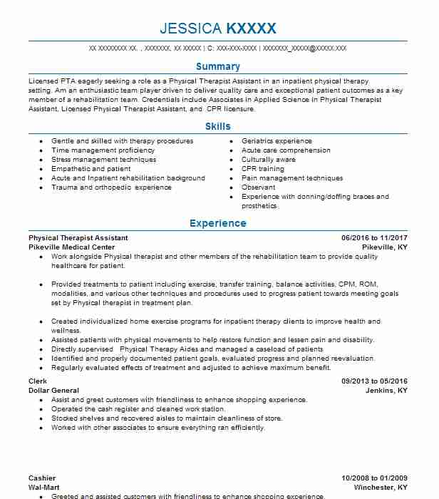 physical therapist assistant resume example therapy resumes skills microsoft office elv Resume Physical Therapist Assistant Resume Skills