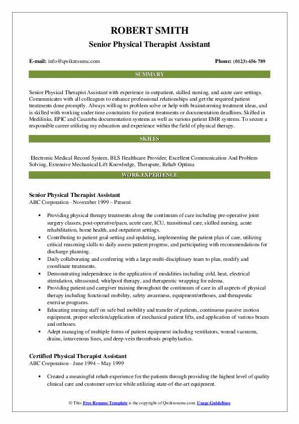 physical therapist assistant resume samples qwikresume skills pdf and motivation letter Resume Physical Therapist Assistant Resume Skills