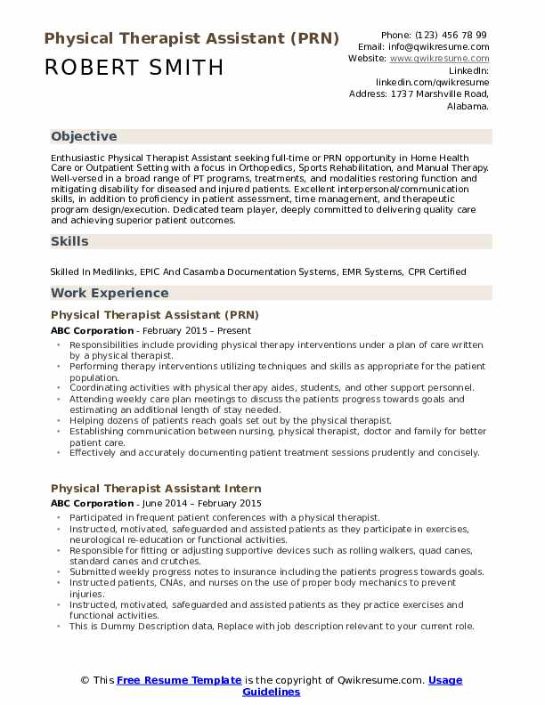 physical therapist assistant resume samples qwikresume skills pdf worst mistakes with Resume Physical Therapist Assistant Resume Skills
