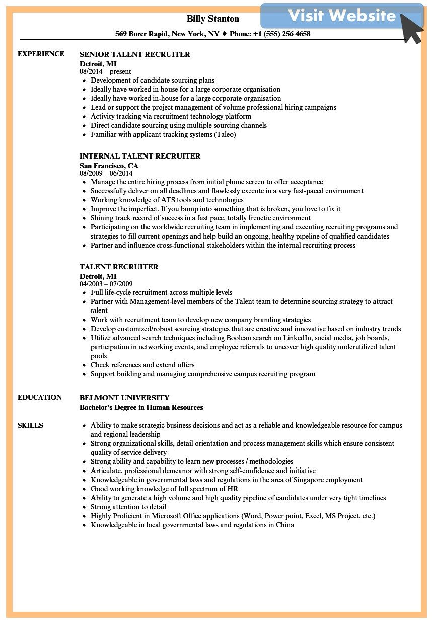 pin on recruiter resume examples college objective excellent organizational skills Resume College Recruiter Resume Objective Examples