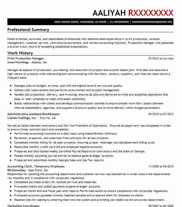 print production manager resume example chicago examples headline for your scholarship Resume Print Production Resume Examples