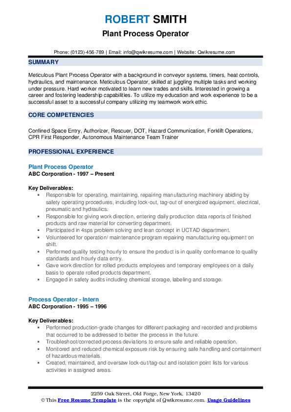 process operator resume samples qwikresume skills for pdf administration format job Resume Process Operator Skills For Resume