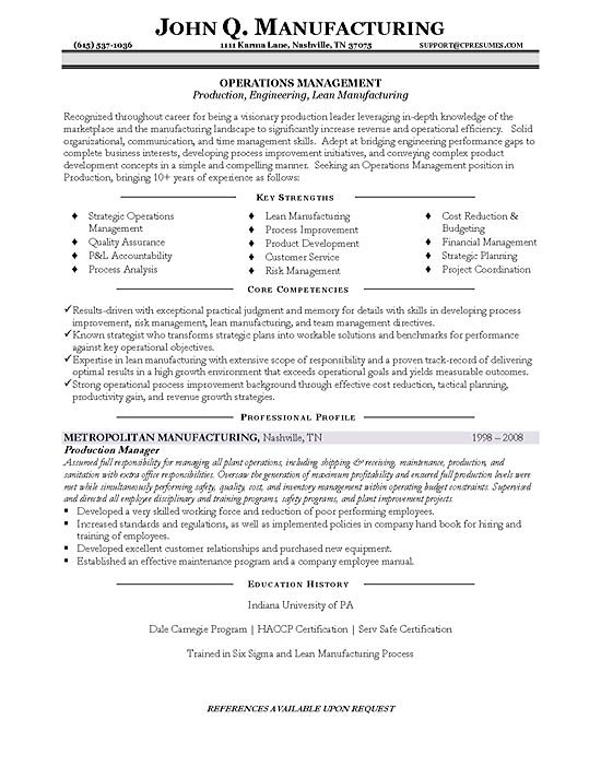 production manager resume example sample management10 best format for aviation faking Resume Production Manager Resume