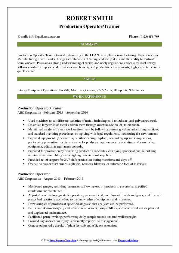 production operator resume samples qwikresume process skills for pdf create google drive Resume Process Operator Skills For Resume