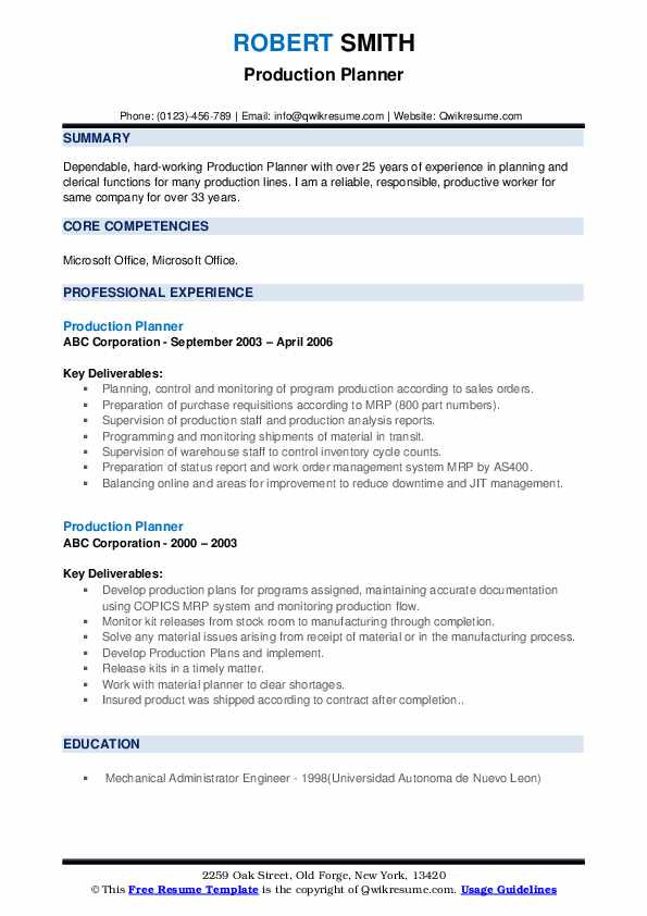 production planner resume samples qwikresume planning and control engineer pdf free help Resume Dental Receptionist Resume