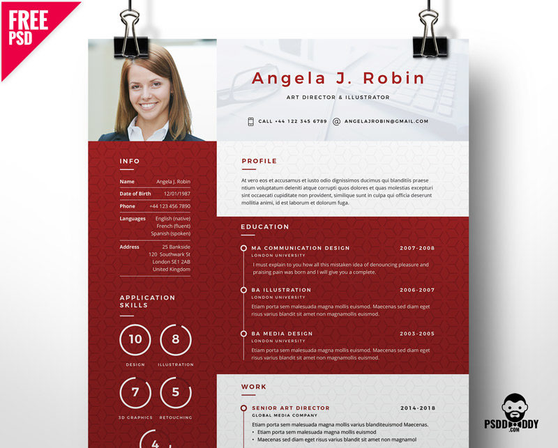 professional free resume template psddaddy format 800x643 radio broadcasting project Resume Resume Format Template Free
