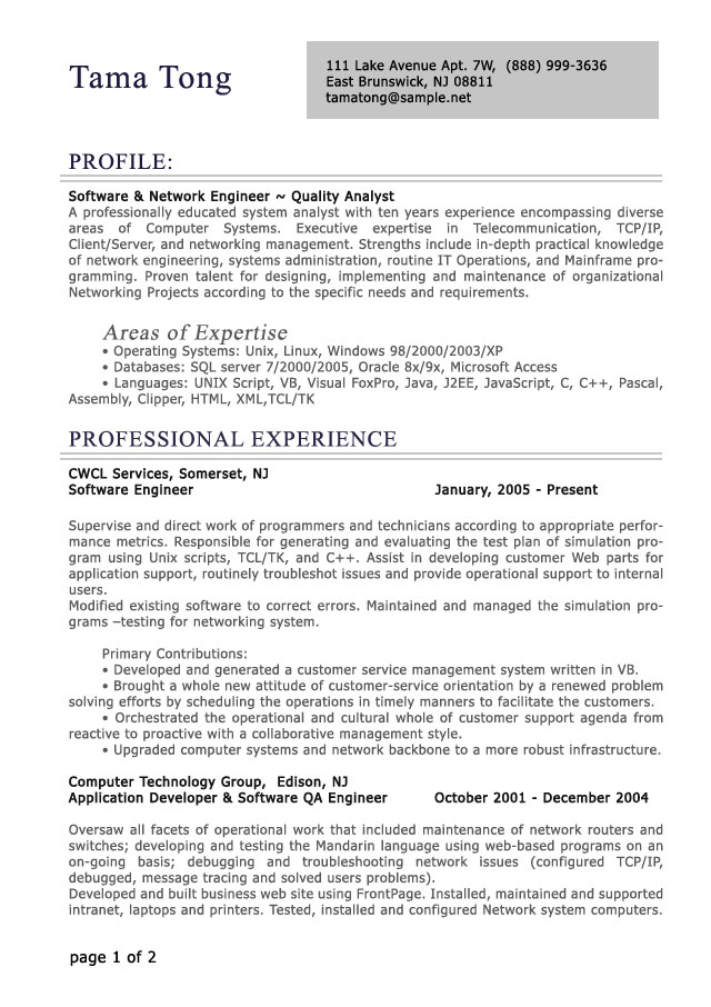 professional level resume samples resumesplanet experience sample res proff chapter Resume Professional Experience Resume Sample