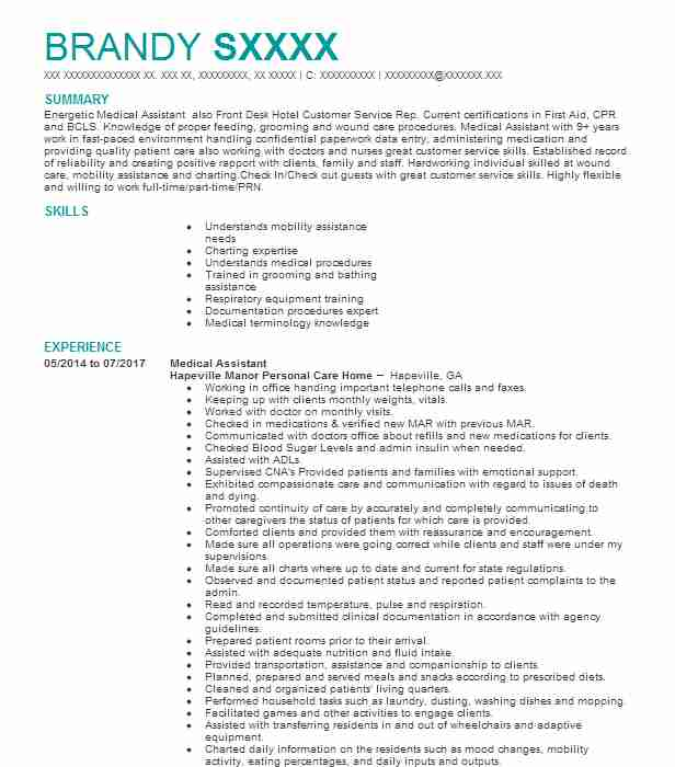 professional medical assistant resume examples healthcare support livecareer objectives Resume Medical Assistant Resume Objectives Samples