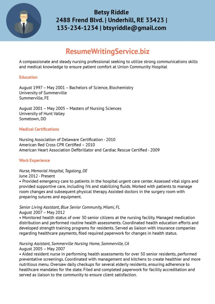 professional nursing resume writing services writers best font and size for travel nurse Resume Best Nursing Resume Writers