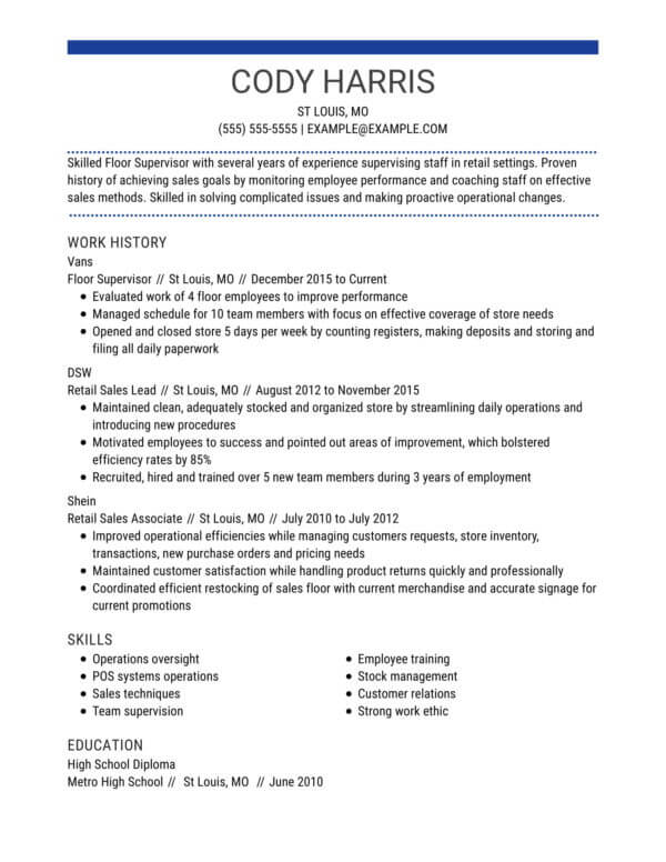 professional retail resume examples livecareer skills to put on for centered chrono floor Resume Skills To Put On Resume For Retail