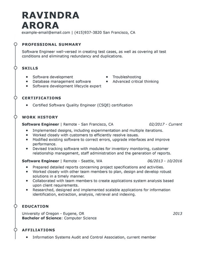 professional software engineer resume examples computer livecareer engineering templates Resume Software Engineering Resume Templates