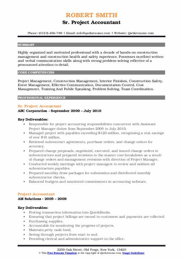 project accountant resume samples qwikresume oracle accounting pdf call center skills Resume Oracle Project Accounting Resume