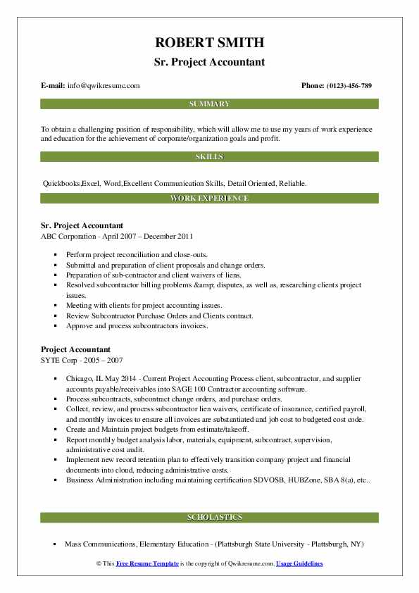 project accountant resume samples qwikresume oracle accounting pdf for govt job format Resume Oracle Project Accounting Resume