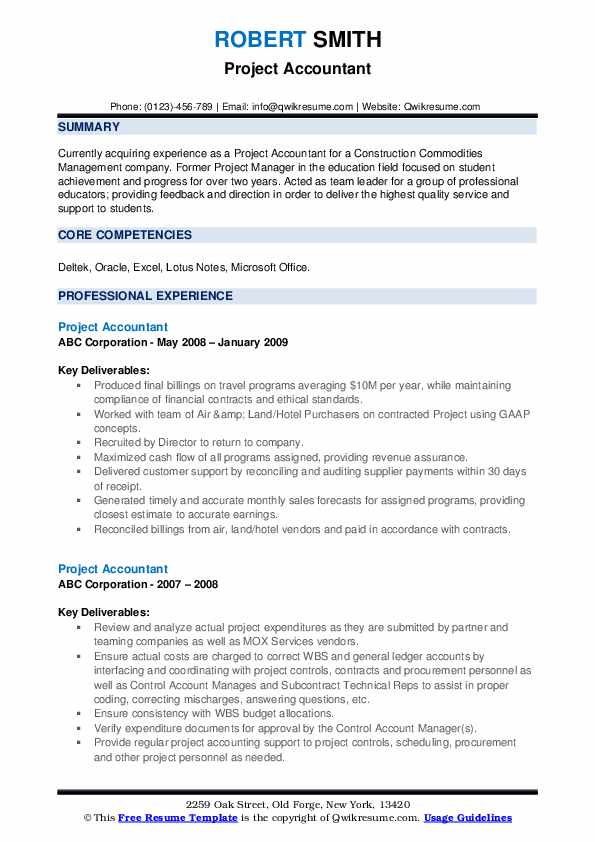 project accountant resume samples qwikresume oracle accounting pdf with only one job Resume Oracle Project Accounting Resume