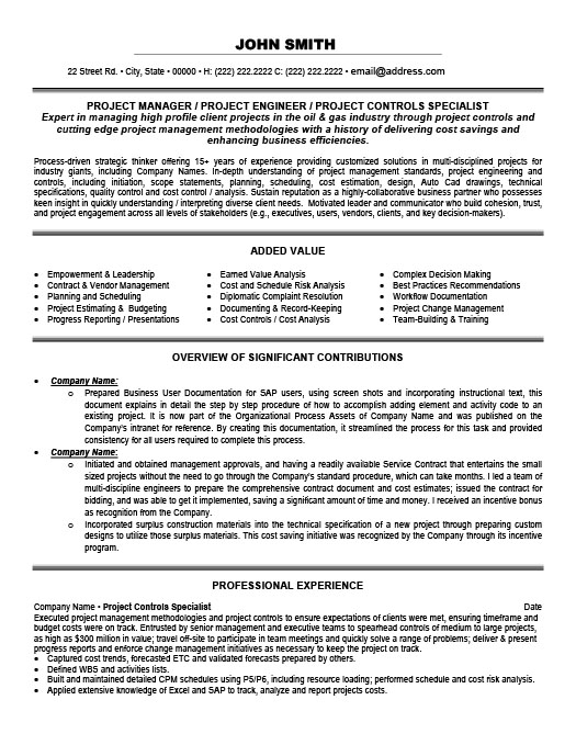 project controls specialist resume template premium samples example business presentation Resume Business Presentation Specialist Resume