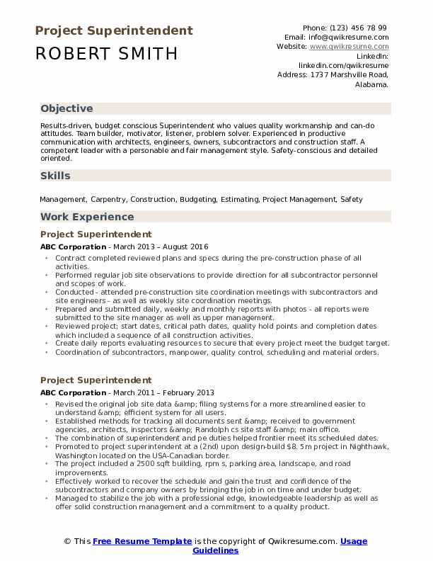 project superintendent resume samples qwikresume construction sample pdf summary for Resume Construction Superintendent Resume Sample
