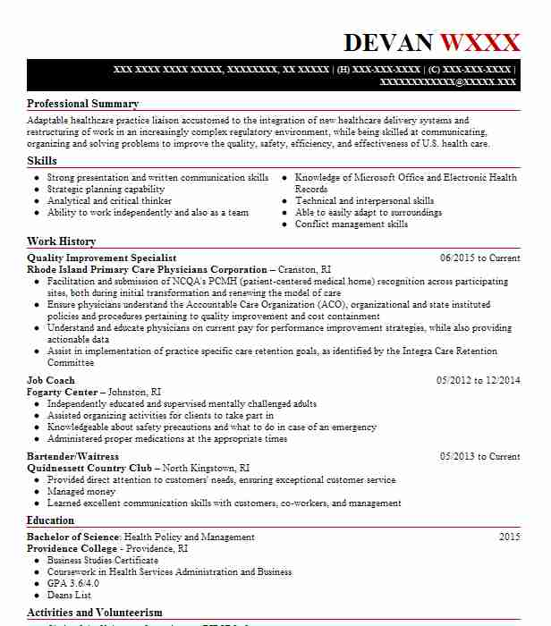 quality improvement specialist resume example livecareer healthcare home attendant self Resume Healthcare Quality Improvement Resume