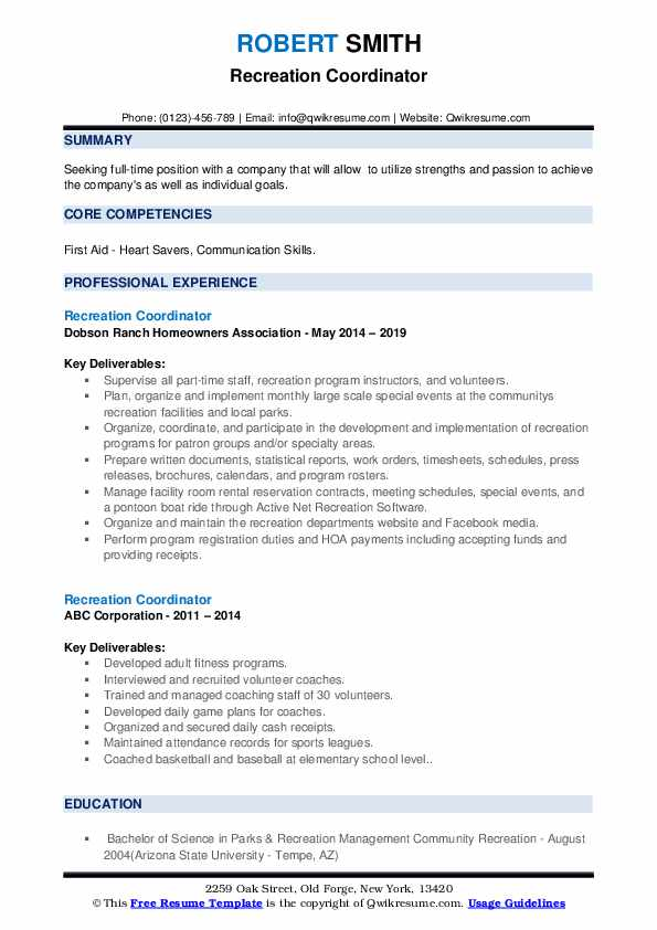 recreation coordinator resume samples qwikresume outdoor pdf for data entry job without Resume Outdoor Recreation Resume