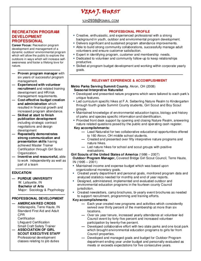recreation manager resume linked in outdoor example or template now services cost for Resume Outdoor Recreation Resume