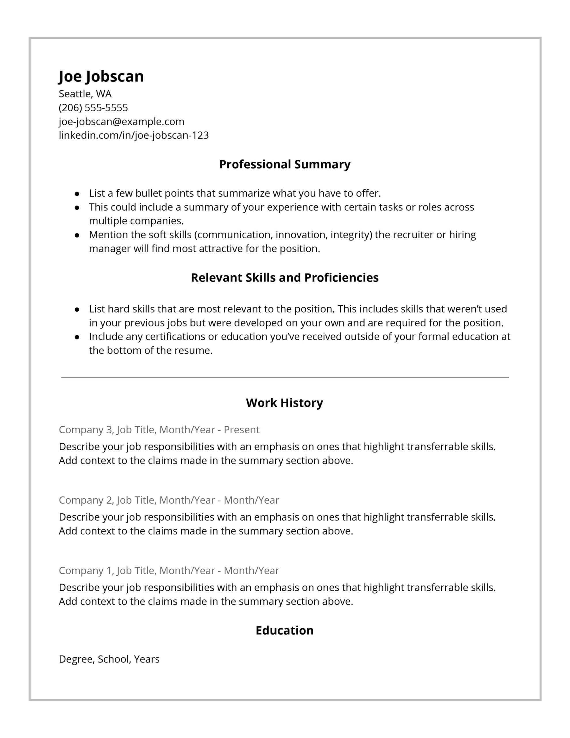 recruiters hate the functional resume format here with work history hybrid template en Resume Resume With Long Work History
