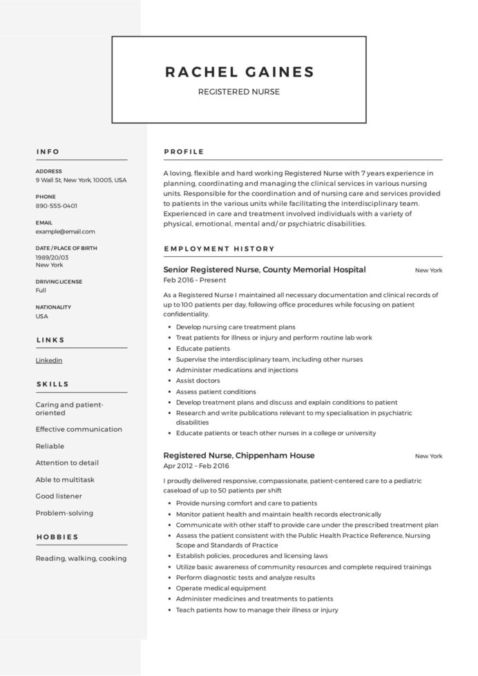 registered nurse resume sample writing guide samples pdf template example travel examples Resume Registered Nurse Resume Template