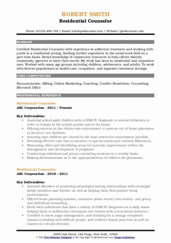 residential counselor job description resume new samples examples professional and cover Resume Residential Counselor Resume