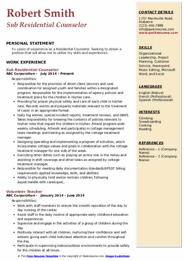 residential counselor resume samples qwikresume pdf great objectives professional and Resume Residential Counselor Resume