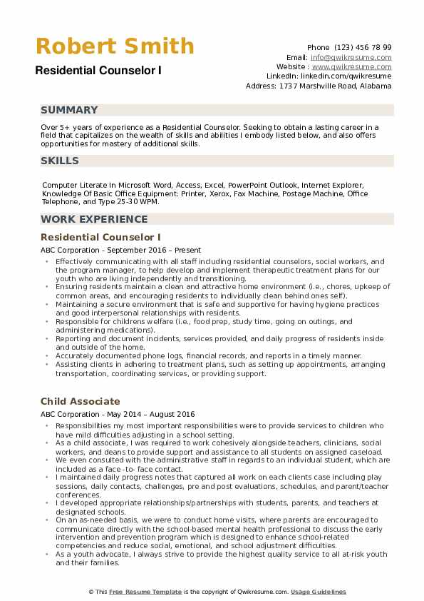 residential counselor resume samples qwikresume pdf lvn case manager dice best service Resume Residential Counselor Resume