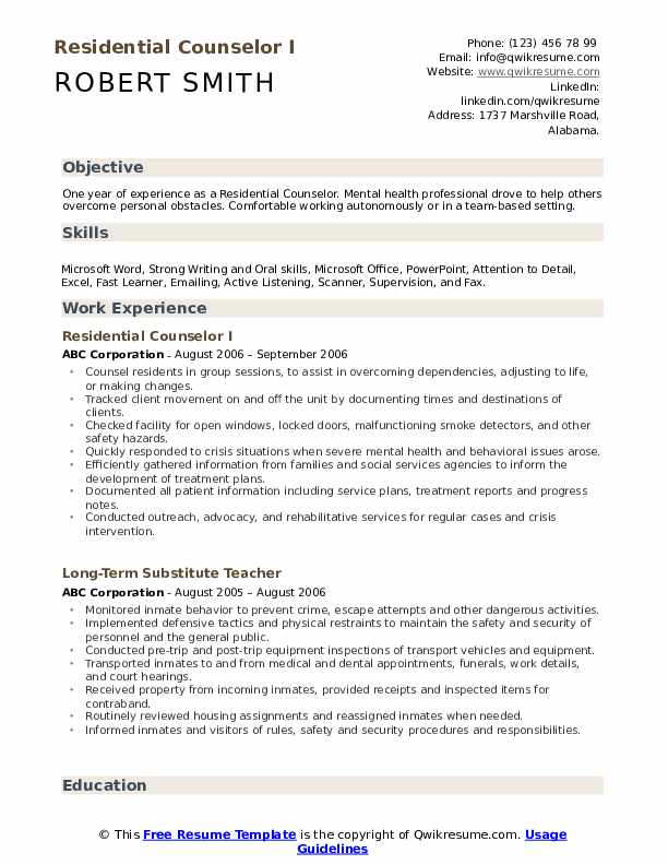 residential counselor resume samples qwikresume pdf lvn case manager quality inspector Resume Residential Counselor Resume