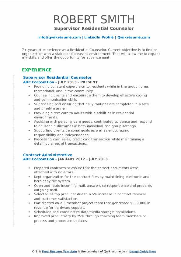 residential counselor resume samples qwikresume pdf verbiage sample of email for sending Resume Residential Counselor Resume