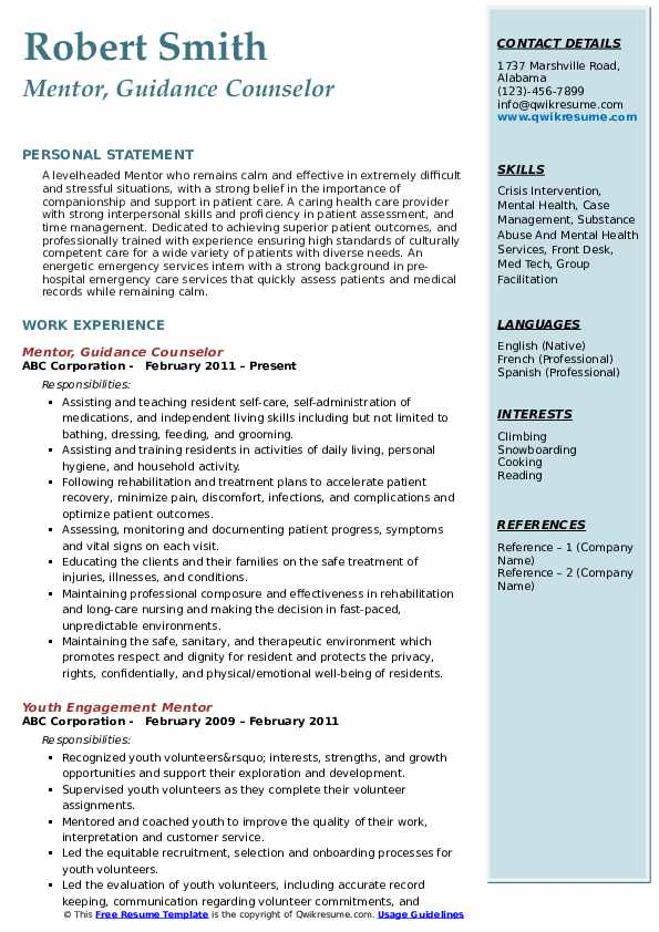 residential substance abuse counselor cv march resume mentor pdf server template temp job Resume Residential Counselor Resume