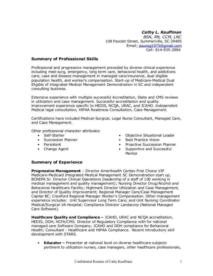 resume cathy healthcare quality improvement thumbnail federal government example disney Resume Healthcare Quality Improvement Resume
