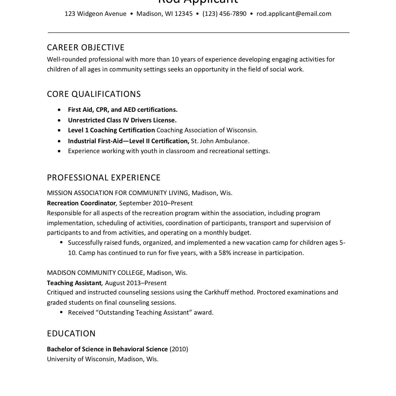 resume example for childcare social services worker daycare objective electrician Resume Daycare Resume Objective