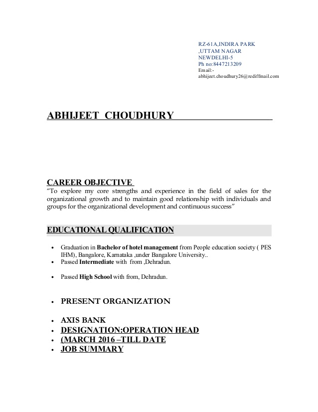 resume for axis bank banking objective template factory worker effective freshers excel Resume Banking Resume Objective