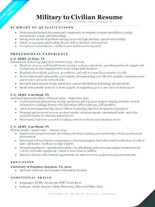 resume for veterans military veteran examples sample army builder templates help writing Resume Military Resume Examples 2020