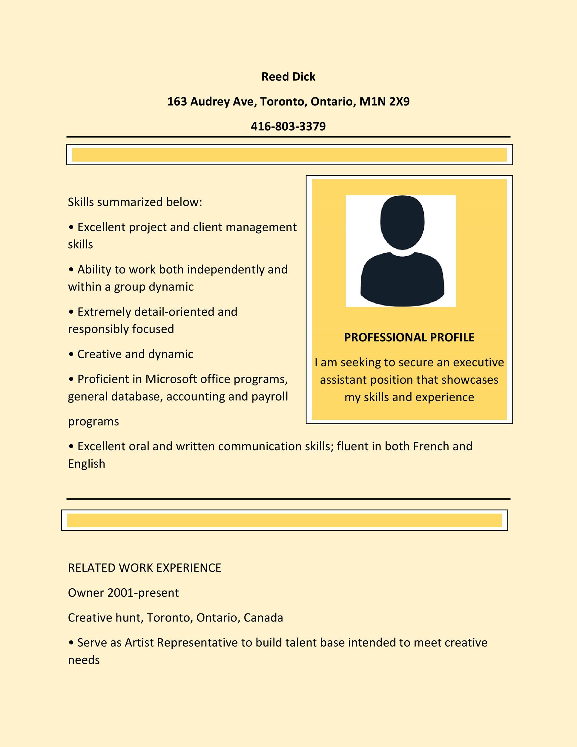 resume format best examples template production associate summary construction Resume Canadian Resume Template Download