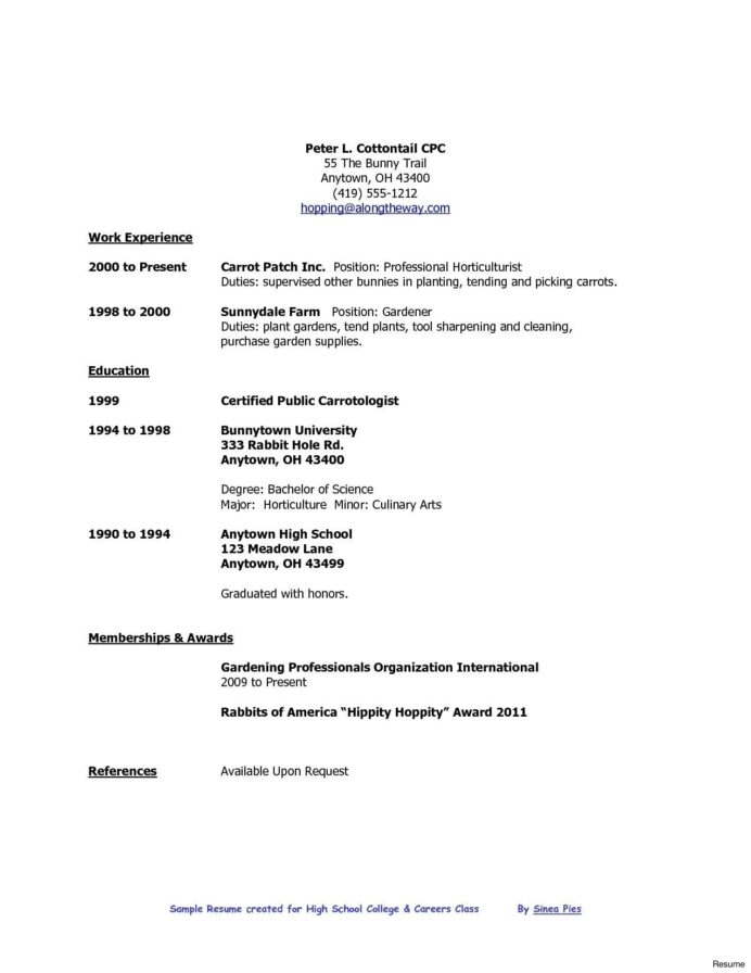 resume format high school graduate college template job samples examples outline for Resume Resume Builder For First Job