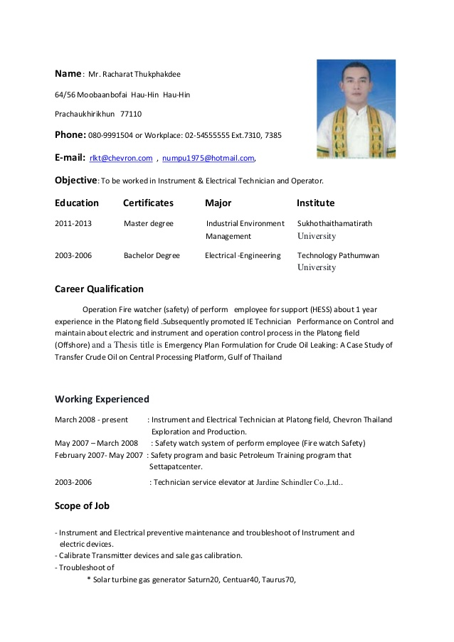resume instrument electrical technician and operator oil gas now login importance of Resume Oil And Gas Electrical Technician Resume