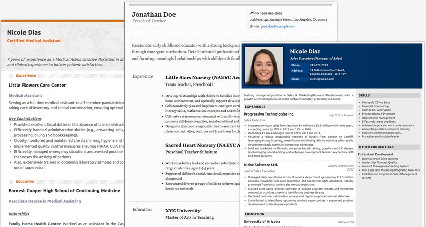 resume maker create standout professional and cv best making designs new joint web Resume Best Resume Making Online