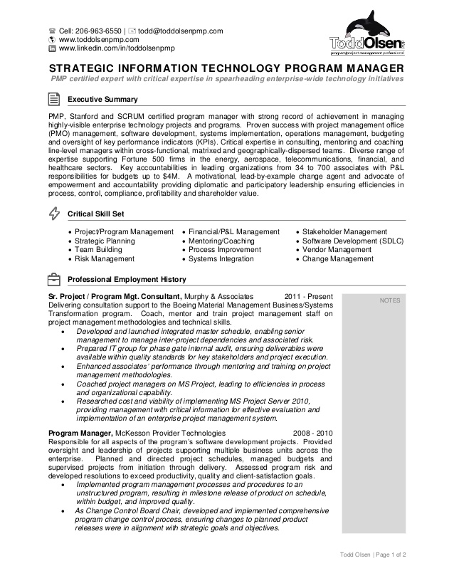 resume of olsen agile program manager free template with sidebar writing guide semi truck Resume Agile Program Manager Resume