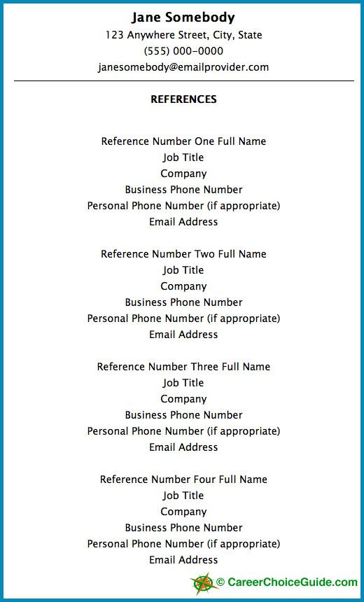 resume reference setup tips template references for job and entry level physician Resume Resume And Reference Page